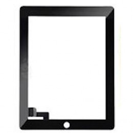 Black Digitizer without Home Button Replacement Part for iPad 2