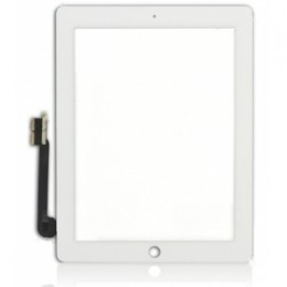 White Digitizer without Home Button Replacement Part for iPad 3/4 (Grade B)